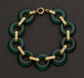 Estate Jewelry:Bracelets, Jade & 14k Gold Bracelet. ...