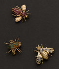 Estate Jewelry:Brooches - Pins, Three Bumble Bee Pins. ... (Total: 3 Items)