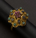 Estate Jewelry:Rings, Multi-Color Stones & 18k Gold Ring. ...