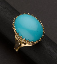 Persian Turquoise Gold Ring