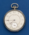 Timepieces:Pocket (post 1900), Howard 14k White Gold 12 Size Pocket Watch. ...