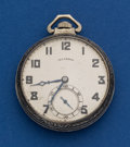 Timepieces:Pocket (post 1900), Illinois 14k Gold 17 Jewel 12 Size Pocket Watch. ...