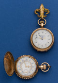 Timepieces:Pocket (post 1900), Two Waltham Fancy Dials 0 Size Pocket Watches. ... (Total: 2 Items)