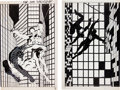 Original Comic Art:Covers, Frank Miller Spider-Man and Daredevil Special Edition #1Wrap-Around Cover Original Art (Marvel, 1984).... (Total: 2 Items)