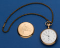 Timepieces:Pocket (post 1900), New York Standard 16 Size Dan Patch Chronograph Pocket Watch ForRepair. ...