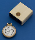 Timepieces:Pocket (post 1900), Hamilton 992 B Pocket Watch With A Partial Box . ...