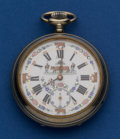 Timepieces:Pocket (post 1900), Swiss 16 Size Fancy Farmer's Dial Pocket Watch. ...