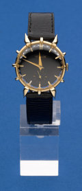 Timepieces:Wristwatch, LeCoultre Rare 14k Gold Sun Ray Case Wristwatch. ...