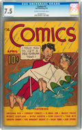 Platinum Age (1897-1937):Miscellaneous, The Comics #2 (Dell, 1937) CGC VF- 7.5 Cream to off-white pages....
