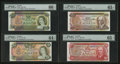 Canadian Currency: , Low Serial Numbers 131 and 133 PMG Graded.. ... (Total: 7 notes)