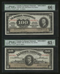 Canadian Currency: , Quebec City, QC- La Banque Nationale $50 and $100 Specimens PMGGraded.. ... (Total: 2 notes)