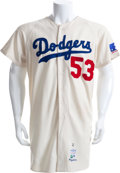 Baseball Collectibles:Uniforms, 1967 Don Drysdale Game Worn Los Angeles Dodgers Jersey....