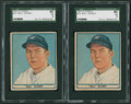 Baseball Cards:Singles (1940-1949), 1941 Play Ball Bill Dickey #70 SGC 40 VG 3 Pair (2)....