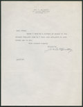 Baseball Collectibles:Others, 1947 Joe McCarthy Signed Letter. ...
