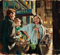 Pulp, Pulp-like, Digests, and Paperback Art, ARTHUR SARON SARNOFF (American, 1912-2000). Sing a Song ofSixpence, story illustration. Gouache on board. 18 x 24 in.....