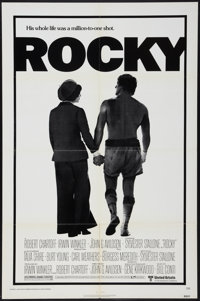 "Rocky (United Artists, 1977). One Sheet (27"" X 41"") and Program (4 Pages, 9"" X 12""). Academy Award W..."