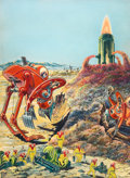 Art:Illustration Art - Pulp, FRANK R. PAUL (American,1884-1963),. Science Wonder Stories,pulp cover, September 1929 . Watercolor and gouache on boar...