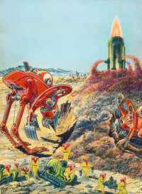 FRANK R. PAUL (American,1884-1963), Science Wonder Stories, pulp cover, September 1929 Watercolor a