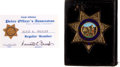 Music Memorabilia:Autographs and Signed Items, Elvis Presley's City of Palm Springs Police Department Badge....(Total: 5 Items)