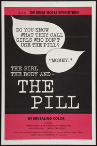 "The Girl, the Body, and the Pill (Creative Film Enterprises, 1967). One Sheet (27"" X 41""). Exploitation"