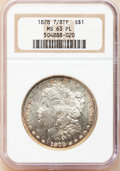 Morgan Dollars: , 1878 7/8TF $1 Strong MS63 Prooflike NGC. NGC Census: (96/68). PCGSPopulation (101/65). Numismedia Wsl. Price for problem ...