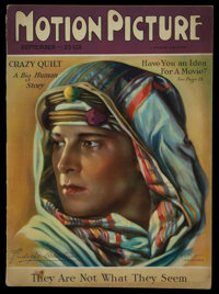 """Motion Picture Magazine (Brewster Publications, Sep., 1826). Magazine (126 Pages, 8.75"""" X 11.5""""). Miscellaneou..."""