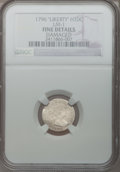Early Half Dimes, 1796 H10C LIKERTY -- Damaged -- NGC Details. Fine. V-1, LM-1,R.3....