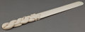 Decorative Arts, Continental:Other , A CONTINENTAL IVORY SNAKE HANDLED PAGE TURNER . Unmarked, unknownmaker, possibly French, circa 1900. 14 inches long (35.6 c...