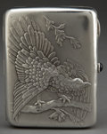 Silver Holloware, Continental:Holloware, A RUSSIAN SILVER CIGARETTE CASE . Unidentified maker, probablyMoscow, Russia circa 1950 . Marks: (Cyrillic) Z6 (right ...
