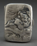 Silver Smalls:Cigarette Cases, AN UNGER BROTHERS SILVER CIGARETTE CASE . Unger Bros., Newark, NewJersey, circa 1900 . Marks: (UB intertwined) STERLING ...