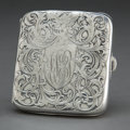 Silver Holloware, American:Other , A WEBSTER SILVER CIGARETTE CASE . Webster Company, New York, NewYork, circa 1880. Marks: (arrow over w) STERLING. 3-1/2...