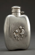 Silver Holloware, American:Flasks, AN UNGER BROTHERS SILVER FLASK . Unger Bros., Newark, New Jersey,circa 1900. Marks: (UB intertwined) STERLING, FINE, 925 ...