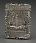 Silver Smalls:Other , AN ENGLISH SILVER CALLING CARD CASE . Unknown maker, probablyBirmingham, England, circa 1870. Unmarked. 3-1/2 inches long (...