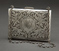 Silver Holloware, American:Other , A KERR SILVER ACID ETCHED PURSE . Wm. B. Kerr & Co., Newark, New Jersey, circa 1880 . Marks: (fasces) STERLING, 3053. 3-...