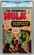 Silver Age (1956-1969):Superhero, The Incredible Hulk #2 (Marvel, 1962) CGC VF- 7.5 White pages....