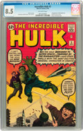 Silver Age (1956-1969):Superhero, The Incredible Hulk #3 (Marvel, 1962) CGC VF+ 8.5 Off-whitepages....