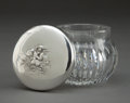 Silver Holloware, American:Vanity, AN UNGER BROS. SILVER AND CUT GLASS VANITY JAR WITH CUPIDS KISSING. Unger Bros., Newark, New Jersey, circa 1900. Marks: (UB...