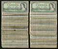 Canadian Currency: , $1 1954 Sixty-one Examples.. ... (Total: 61 notes)