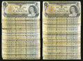 Canadian Currency: , $1 1973 Sixty-eight Examples.. ... (Total: 68 notes)