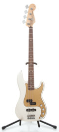 Musical Instruments:Electric Guitars, 2007 Fender P-Bass Special MIM Silver Pearl Metallic Electric BassGuitar #MZ7119356...