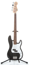 Musical Instruments:Electric Guitars, Squier P-Bass Black Electric Bass Guitar #050426380...