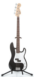 Musical Instruments:Electric Guitars, Squier P-Bass Black Electric Bass Guitar #CY10414184...