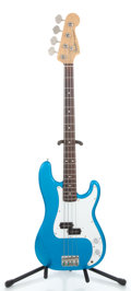 Musical Instruments:Electric Guitars, 1989 Fender Precision Bass MIJ Electric Blue Electric Bass Guitar#E930154...