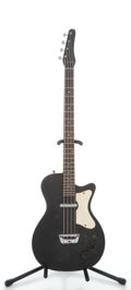 Musical Instruments:Electric Guitars, 1960s Silvertone U-1 Bass Black Electric Bass Guitar...