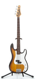 Musical Instruments:Electric Guitars, Washburn Shadow Sunburst Electric Bass Guitar ...