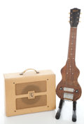 Musical Instruments:Lap Steel Guitars, 1940's Gibson BR-9 AMP + BR-6 Steel Lap Steel Guitar...