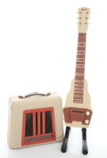 Musical Instruments:Lap Steel Guitars, 1950's Gibson BR-9 Steel and Amp Tan Lap Steel Guitar ...