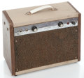 Musical Instruments:Amplifiers, PA, & Effects, 1960's Montgomery Ward 62-9032 Two-Tone Guitar Amplifier #N/A...