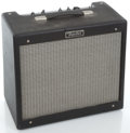 Musical Instruments:Amplifiers, PA, & Effects, Fender Blues Junior Black Guitar Amplifier #E 011273...