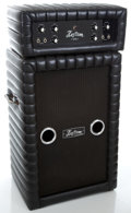Musical Instruments:Amplifiers, PA, & Effects, 1970's Kustom K-100 Black Amplifier Head and Cabinet #38561...